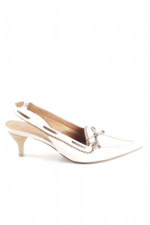 Bruno Premi Slingback-Pumps weiß-braun Casual-Look