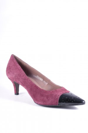 Bruno Premi Spitz-Pumps bordeauxrot-schwarz