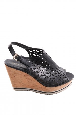 Bruno Premi Wedge Sandals black flower pattern casual look