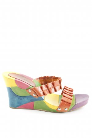 Bruno Premi Wedge Sandals multicolored casual look
