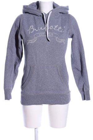 Brunotti Sweatshirt met capuchon lichtgrijs gestippeld casual uitstraling