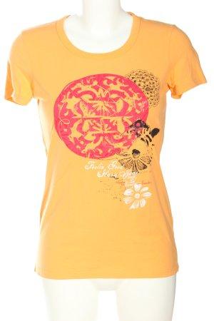 Brunotti T-shirt licht Oranje prints met een thema casual uitstraling