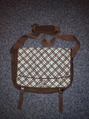 Brunotti Gekruiste tas bruin-lichtblauw
