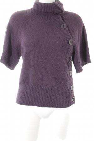 Bruuns bazaar Cardigan dark violet weave pattern simple style