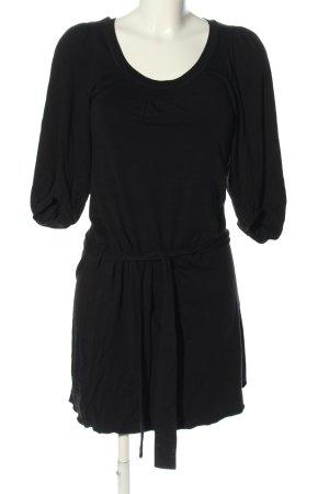 Bruuns bazaar Sukienka z dżerseju czarny W stylu casual