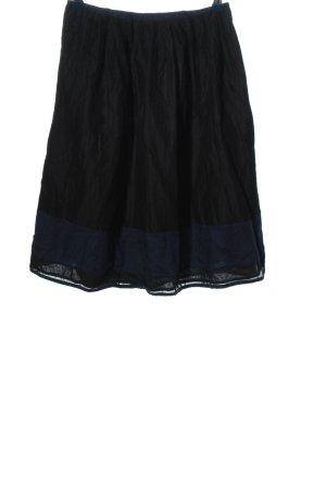 Bruuns bazaar Spódnica midi czarny-niebieski W stylu casual