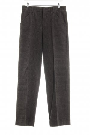Bruuns bazaar Jersey Pants black-ocher check pattern business style