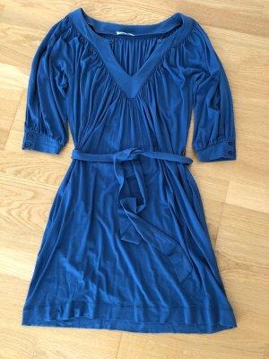 bzr T-shirt jurk korenblauw Viscose