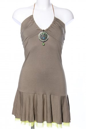 BSB Collection Bandeau Dress brown casual look
