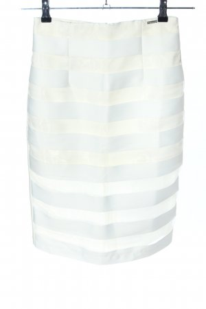 BSB Collection Bleistiftrock weiß-creme Streifenmuster Casual-Look