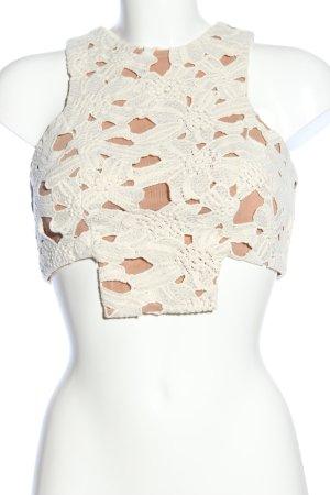 BSB Collection Top corto color carne-bianco sporco elegante