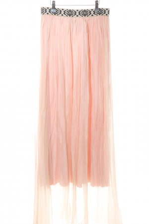 BSB Collection Maxi rok roze-zwart elegant