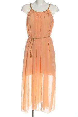 BSB Collection Robe mi-longue orange clair style décontracté