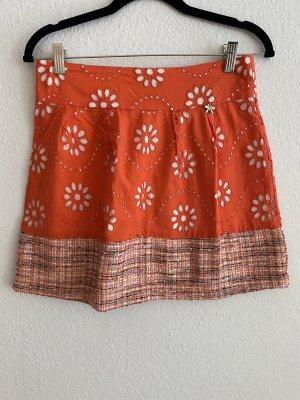 BSB Collection Mini-jupe saumon-orange coton
