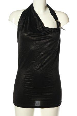 BSB Collection Top senza maniche nero con glitter