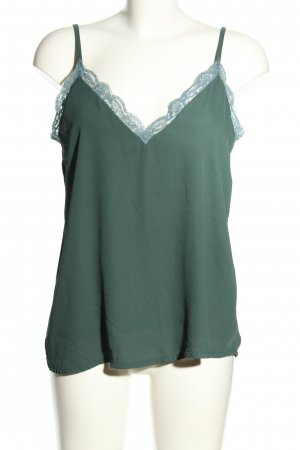 BSB Collection Blusa in merletto verde stile casual