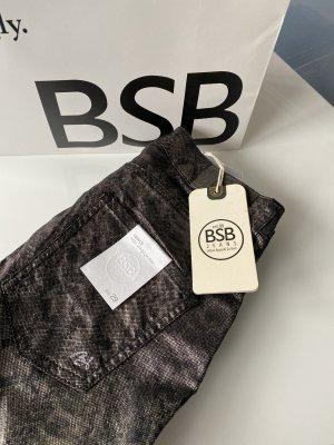 BSB Jeans Pantalone cargo nero-argento
