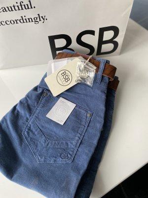 BSB Jeans Pantalón abombado azul aciano-azul acero
