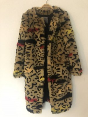 BSB Jeans Fake Fur Coat multicolored