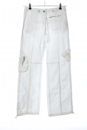 BSB Jeans Low-Rise Trousers white casual look
