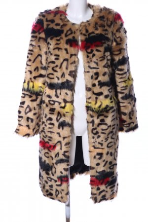 BSB Jeans Fake Fur Jacket abstract pattern extravagant style