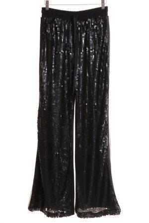 BSB Jeans Pallazzohose schwarz Streifenmuster Elegant