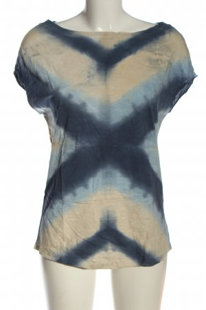 BSB Jeans Boothalsshirt blauw-room abstract patroon casual uitstraling