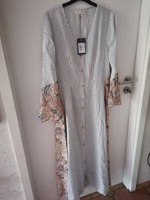 BSB Collection Robe à manches longues blanc-noir