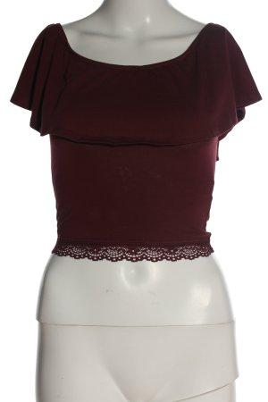 BSK by Bershka Top koszulowy czerwony Styl klasyczny