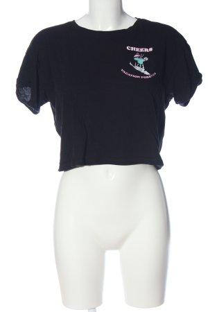 BSK by Bershka Koszula o skróconym kroju Nadruk z motywem W stylu casual