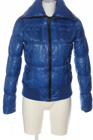 BSK by Bershka Down Jacket blue quilting pattern casual look