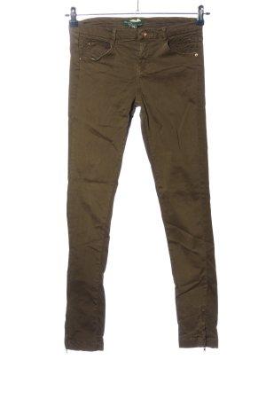 BSK by Bershka Pantalon cinq poches kaki style décontracté