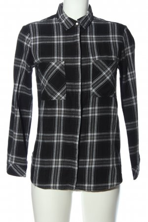 BSK by Bershka Flannel Shirt black-white check pattern casual look