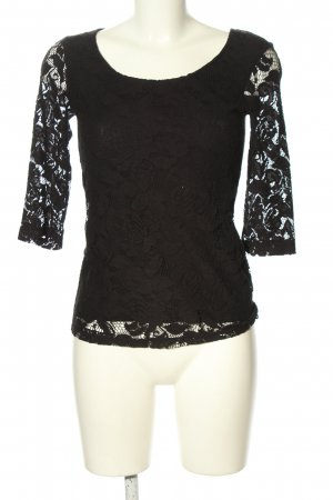 BSK by Bershka Crochet Shirt black casual look