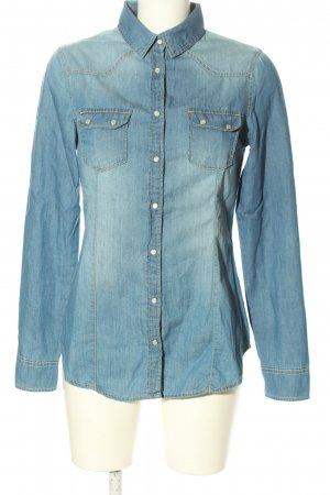 BSK by Bershka Denim Shirt blue casual look