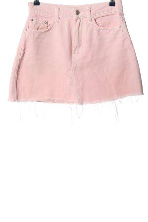 BSK by Bershka Jeansowa spódnica różowy W stylu casual