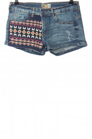 BSK by Bershka Denim Shorts blue graphic pattern casual look