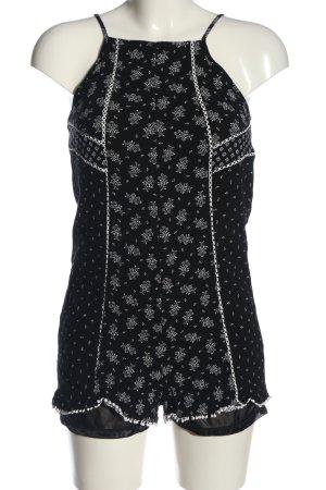 BSK by Bershka Kombinezon czarny-biały Graficzny wzór W stylu casual