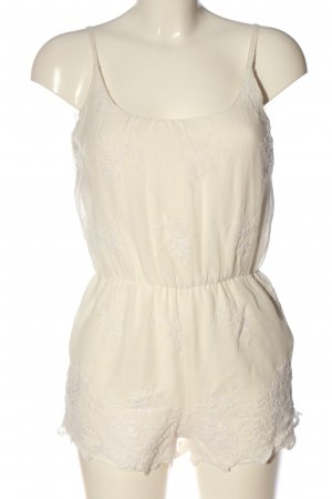 BSK by Bershka Kurzer Jumpsuit white casual look
