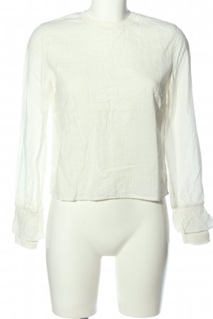 BSK by Bershka Blouse à manches longues blanc style décontracté