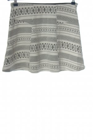 BSK by Bershka Miniskirt natural white-black graphic pattern casual look