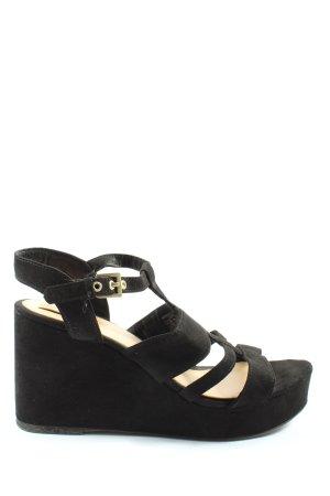 BSK by Bershka Platform Sandals black casual look