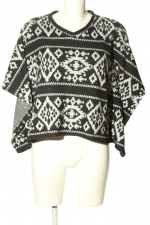 BSK by Bershka Poncho black-white casual look