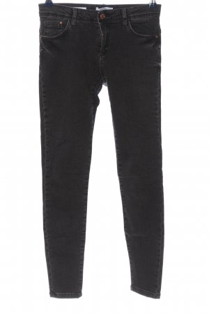 BSK by Bershka Drainpipe Trousers light grey casual look