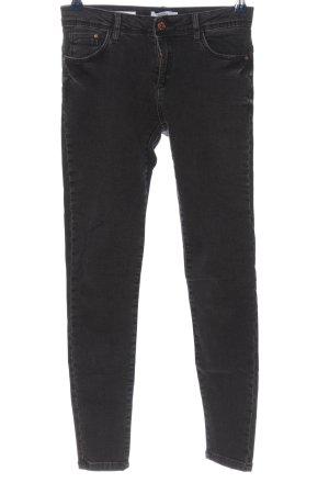 BSK by Bershka Spodnie rurki czarny W stylu casual