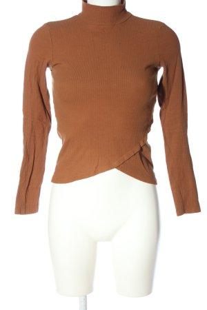 BSK by Bershka Turtleneck Sweater brown casual look