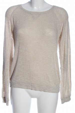 BSK by Bershka Crewneck Sweater natural white-brown flecked casual look