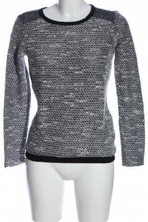 BSK by Bershka Sweat Shirt black-white flecked casual look