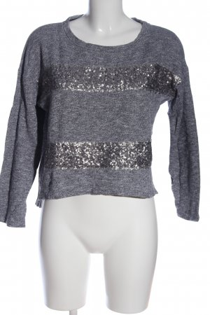 BSK by Bershka Sweat Shirt light grey flecked casual look