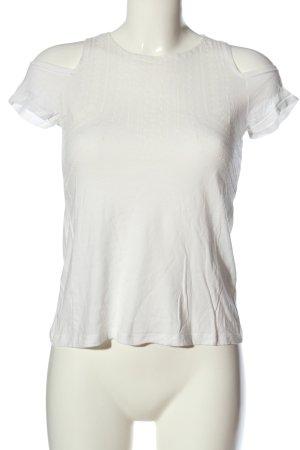 BSK by Bershka T-Shirt weiß Casual-Look